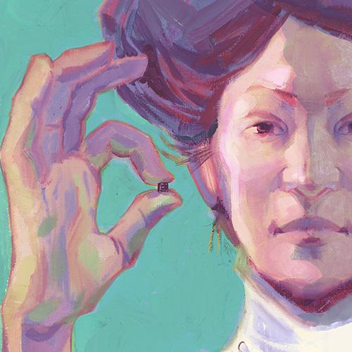 Portrait d'Emma Courriau réalisé par Chloé Cruchaudet