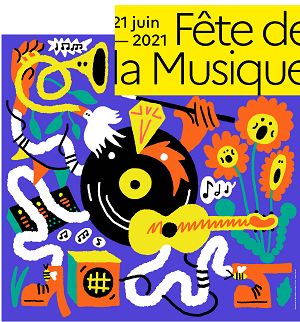 Affiche de la fête de la musique 2021