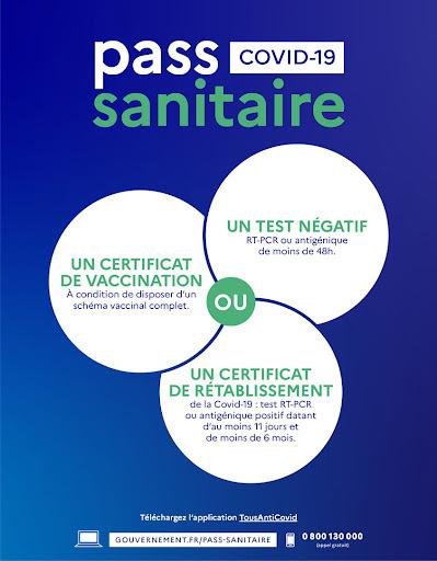 Affiche informative sur le pass sanitaire