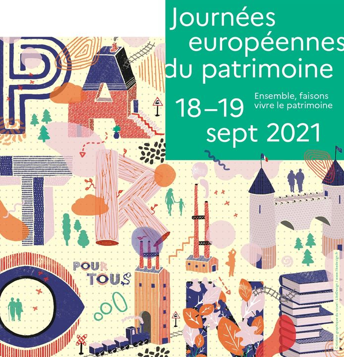 Affiche des journées européennes du patrimoine pour 2021